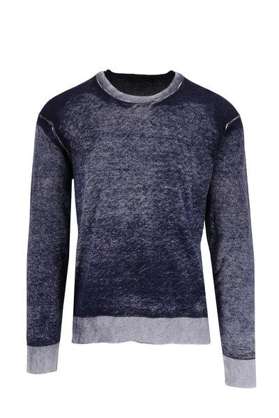 Raffi - Washed Navy Cotton Crewneck Pullover