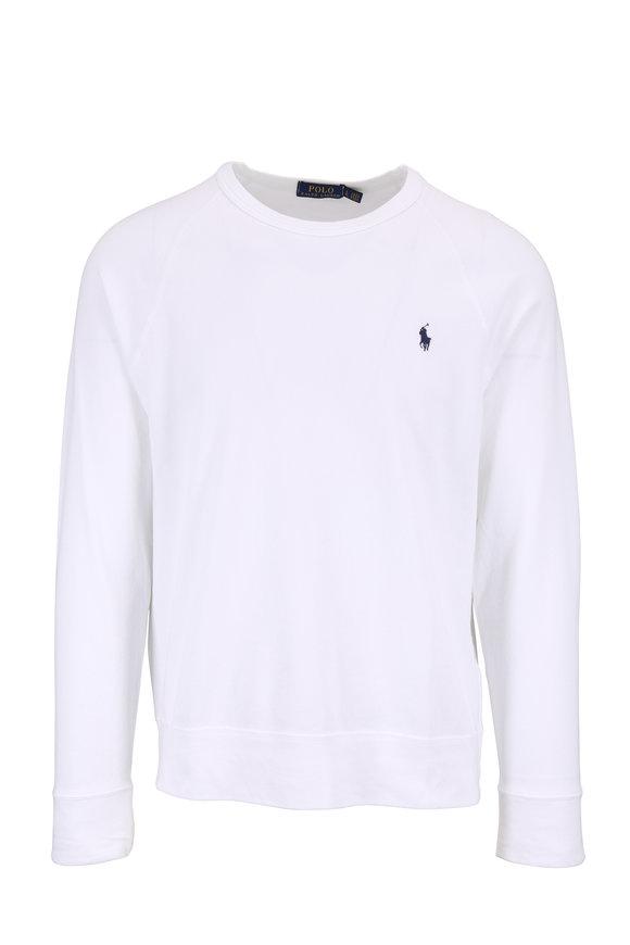 Polo Ralph Lauren White Crewneck Sweatshirt