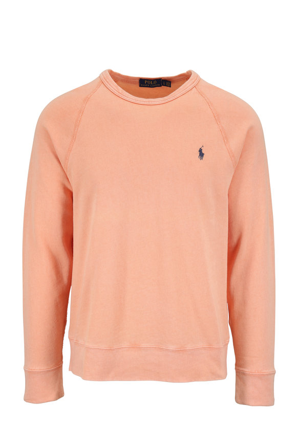 Polo Ralph Lauren Light Orange Cotton Crewneck Sweatshirt