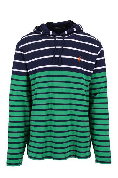 Polo Ralph Lauren - Navy & Green Striped Hoodie