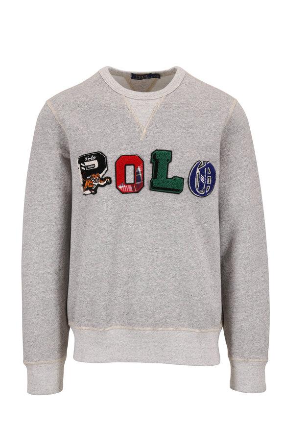 Polo Ralph Lauren Gray Logo Crewneck Sweatshirt