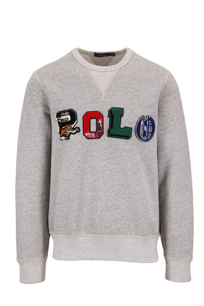 Polo Ralph Lauren - Gray Logo Crewneck Sweatshirt