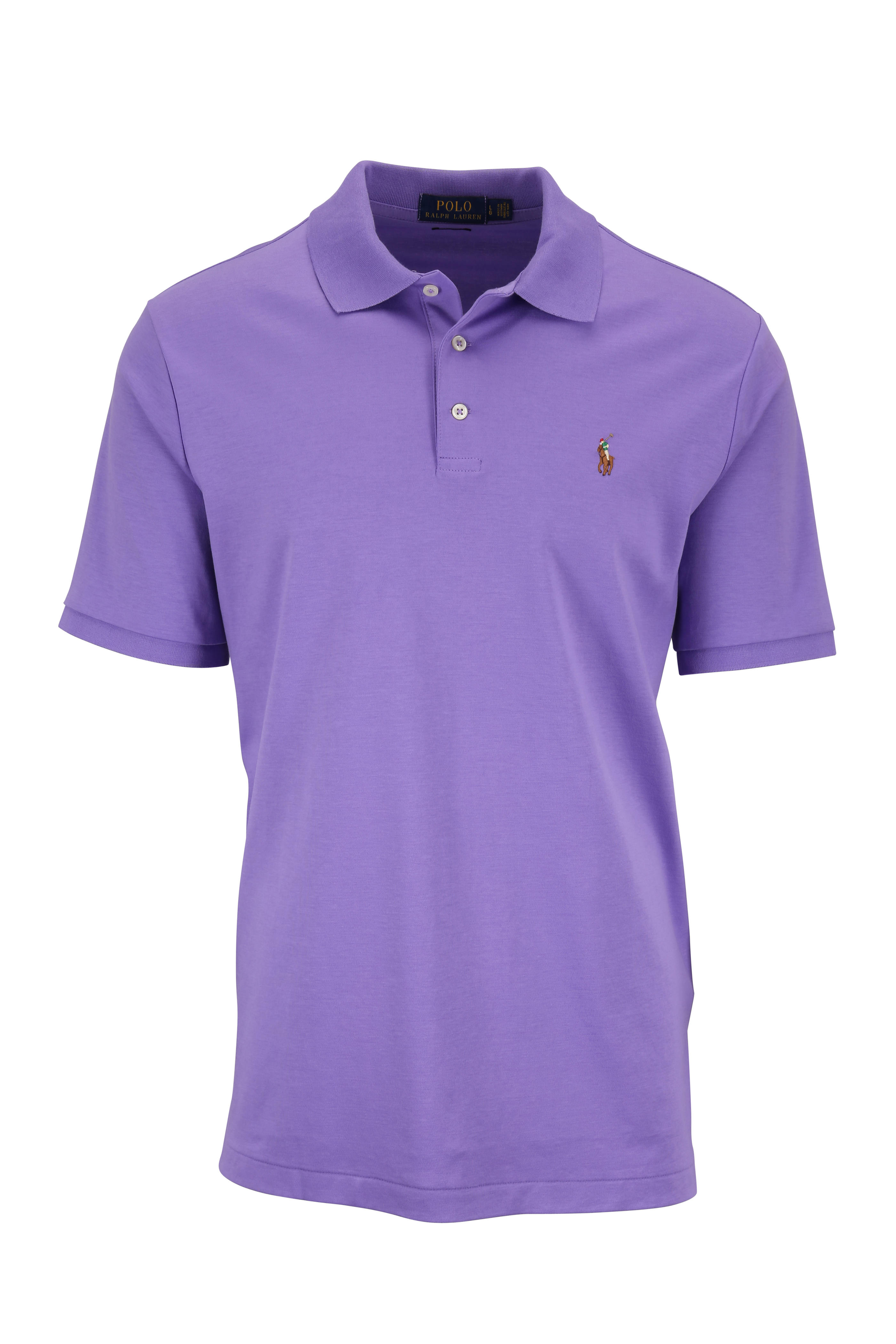 Stores Lauren Cotton Purple Polo FitMitchell Ralph Classic SLMpjUGqzV