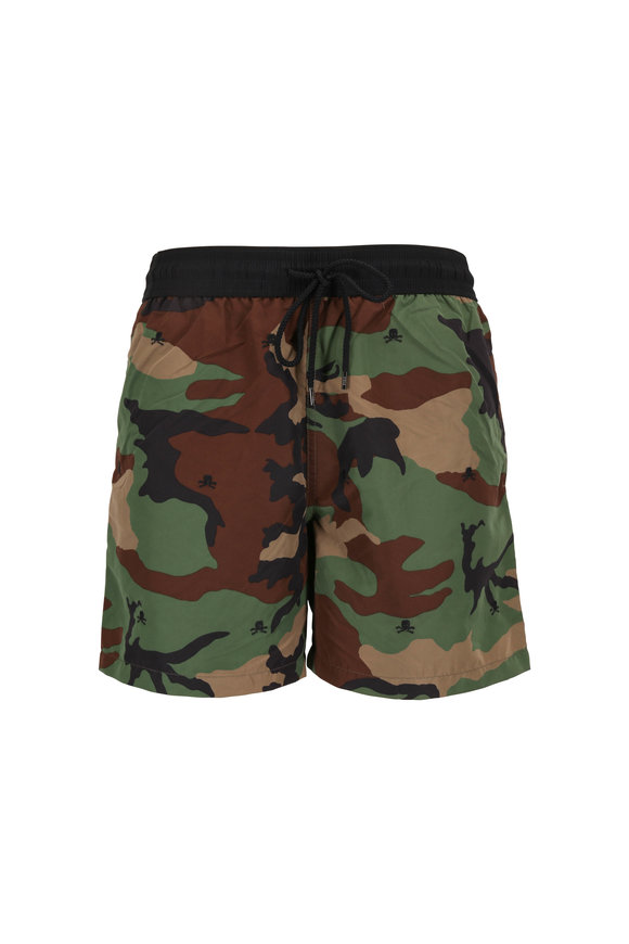Polo Ralph Lauren Camo & Skull Swim Trunks
