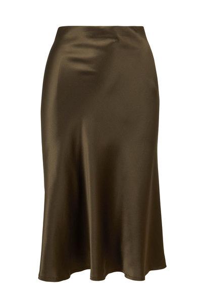 Nili Lotan - Lane Army Green Pull-On Skirt
