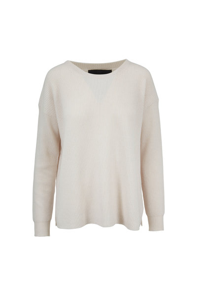 Nili Lotan - Hadis Ivory Cashmere Ribbed Sweater