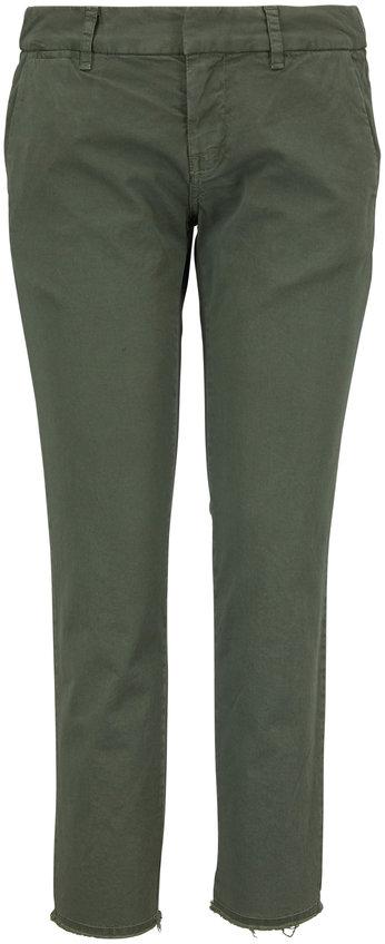 Nili Lotan East Hampton Camo Green Pant
