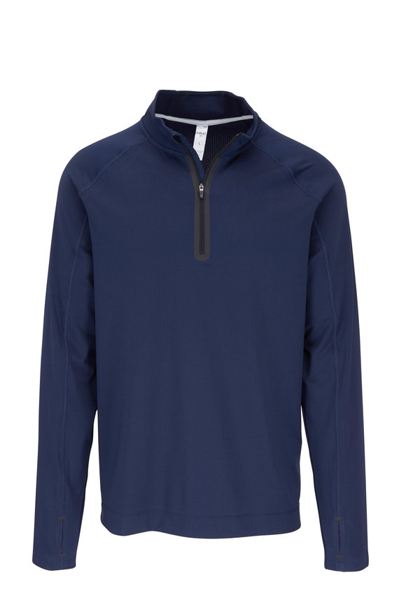 Rhone Apparel Courtside Navy Quarter-Zip Pullover