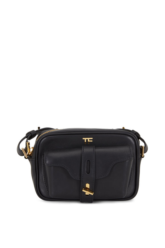 Tom Ford Black Leather Camera Bag