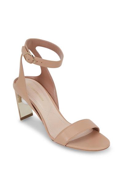 Nicholas Kirkwood - Lola Basic Beige Leather Pearl Inset Sandal, 70mm