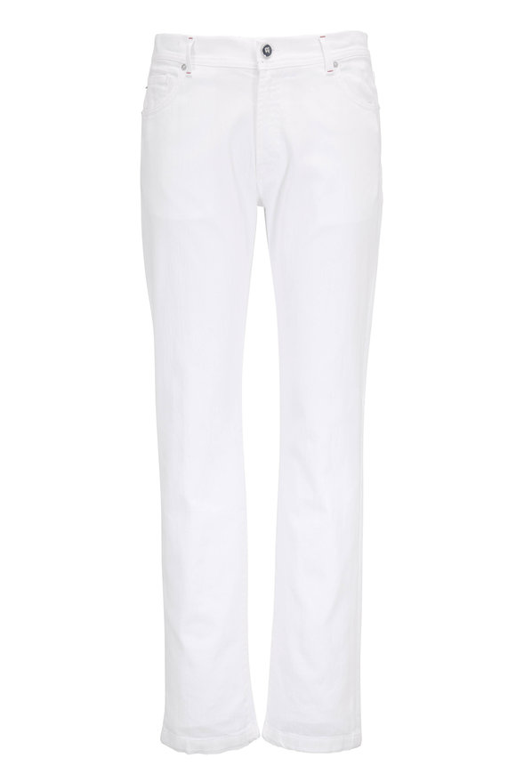 Marco Pescarolo Nerano White Five Pocket Jean