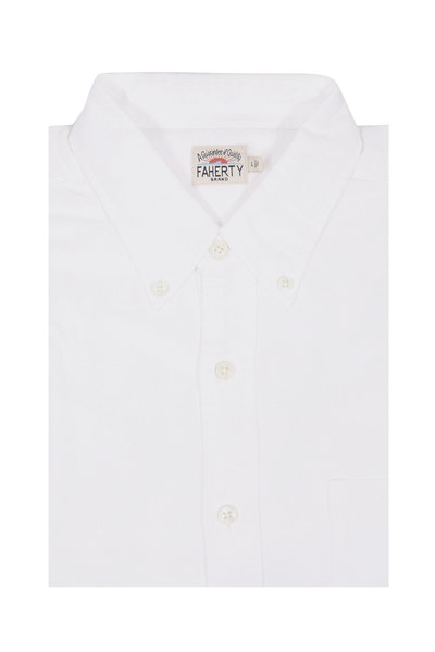 Faherty Brand - Solid White Oxford Sport Shirt
