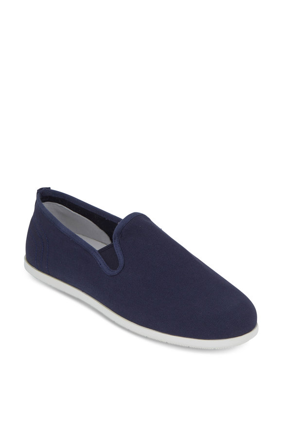 Vince Chadwick Navy Blue Canvas Slip-On Loafer