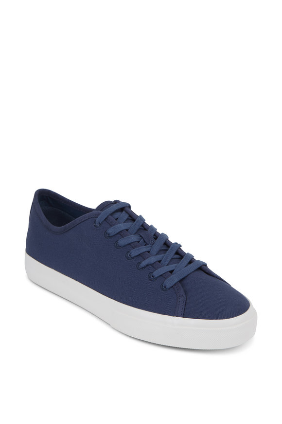 Vince Farrell-3 Navy Blue Canvas Sneaker