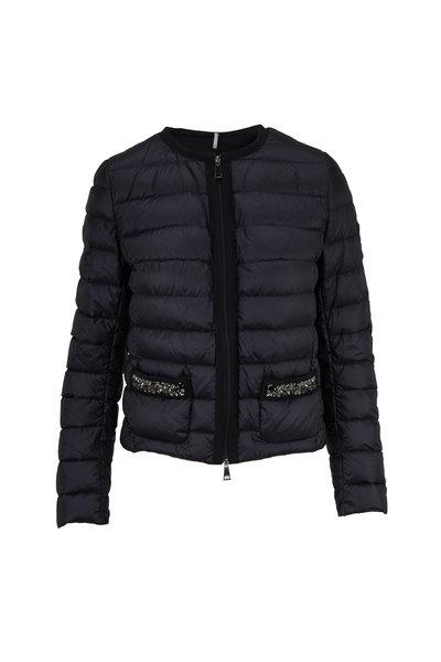 Moncler - Cristalline Black Embellished Pocket Jacket