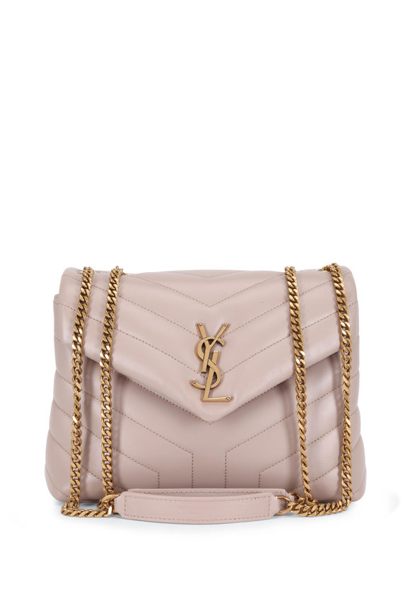 Saint Laurent Loulou Natural Quilted Leather Convertible Bag