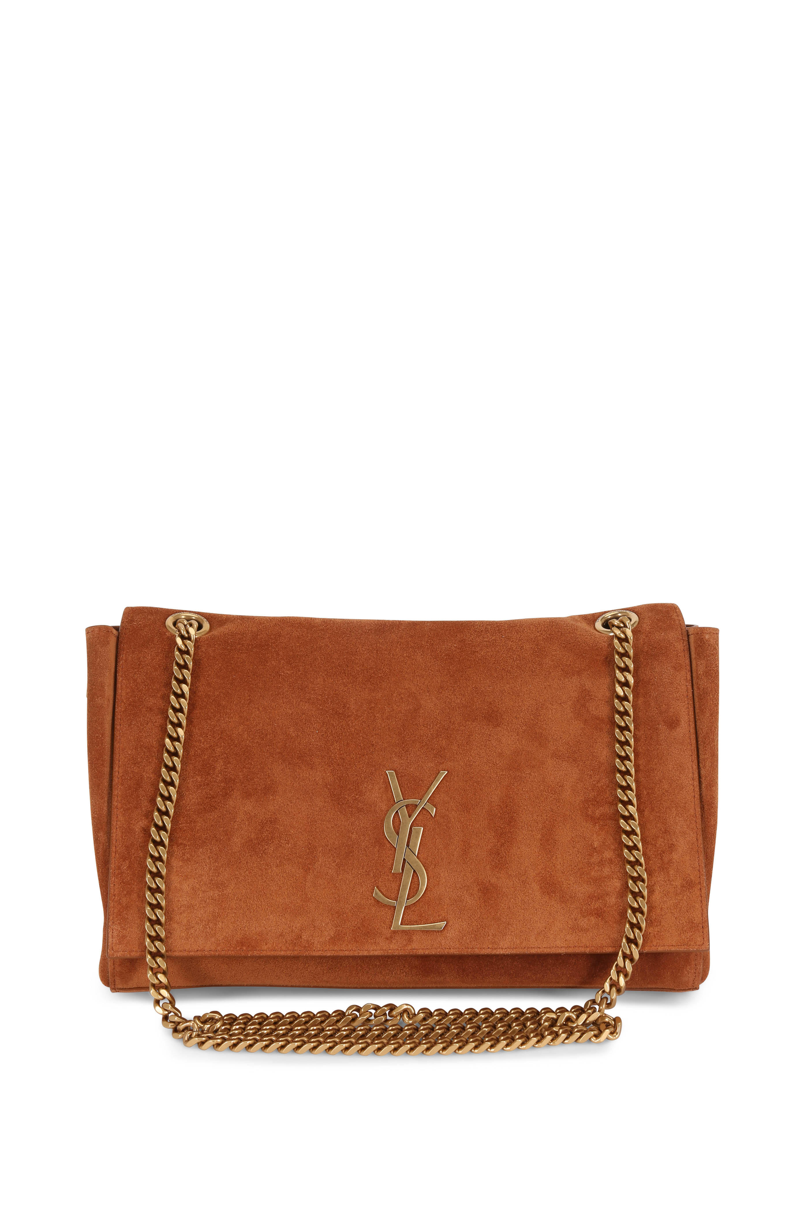 8c60bf4ce8 Saint Laurent - Kate Cognac Suede To Leather Reversible Chain Bag ...