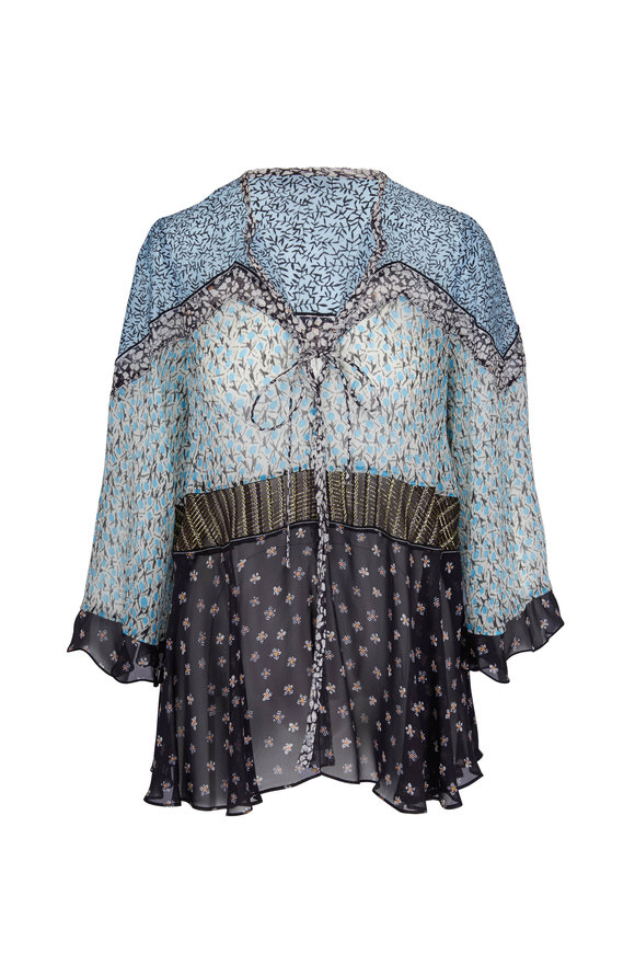 Dorothee Schumacher Energetic Blue Bell-Sleeve Blouse