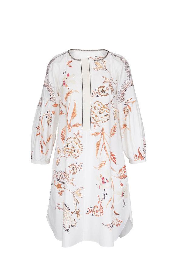 Dorothee Schumacher White & Brown Printed Floral Dress