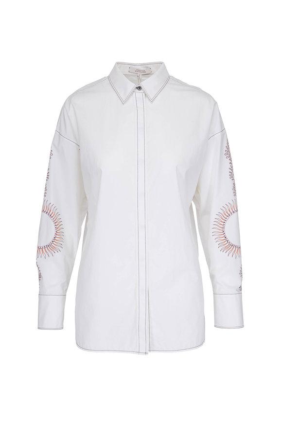 Dorothee Schumacher White Printed Sleeve Shirt