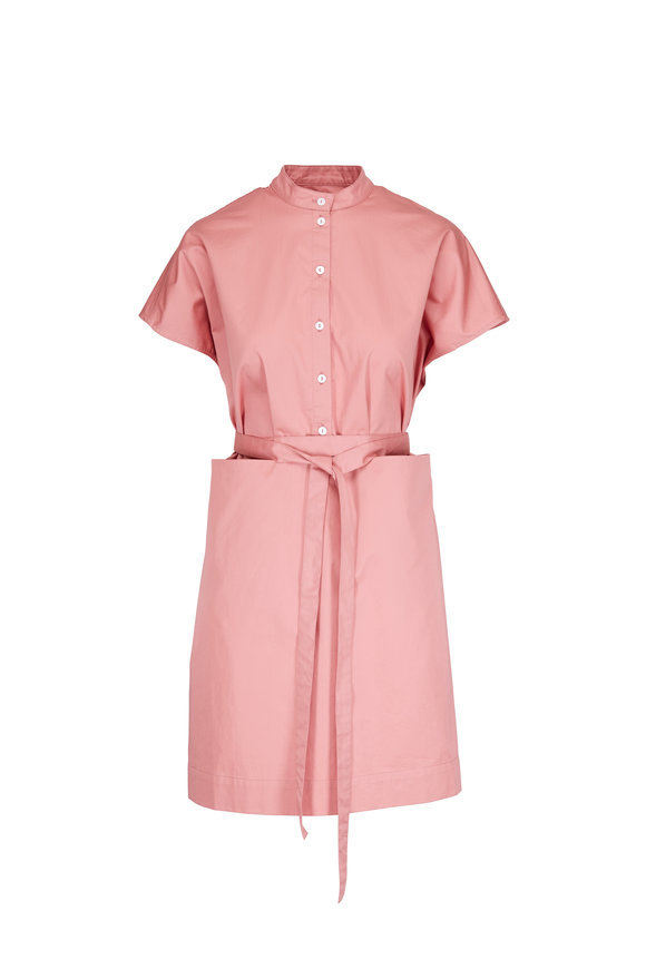 CO Collection Dusty Rose Self-Belt Dress