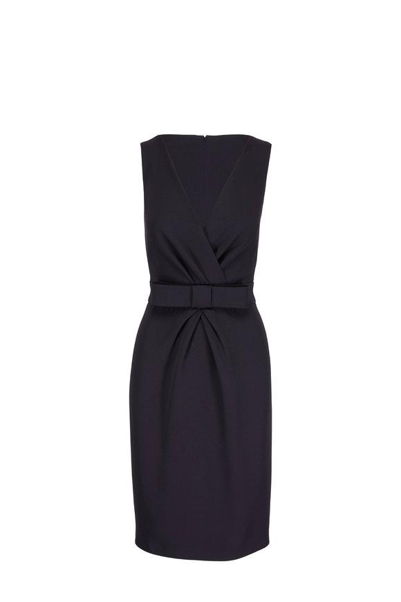 Olivine Gabbro Katherine Black V-Neck Dress