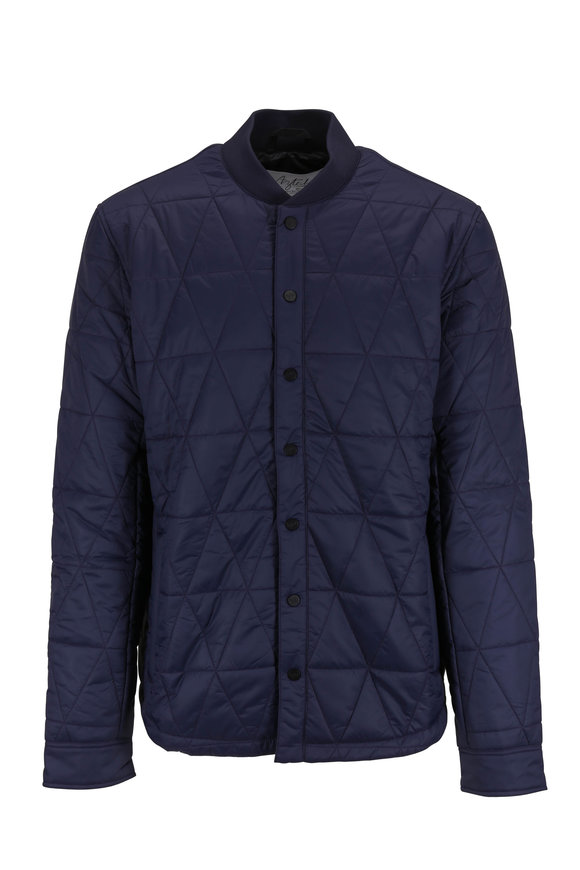 Aztech Mountain Midnight Quilted Overshirt