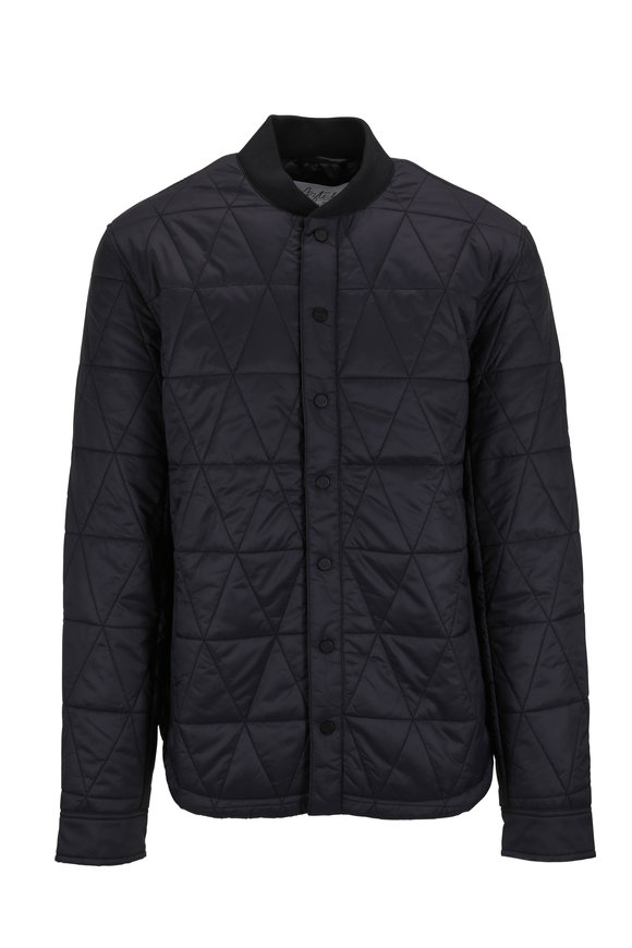 Aztech Mountain Space Black Quilted Shirt Jacket