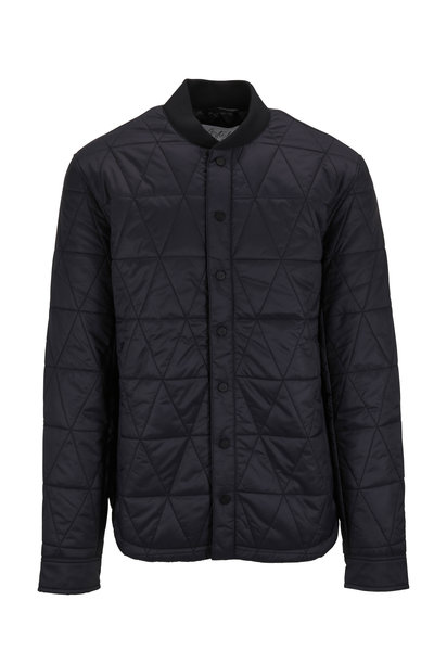 Aztech Mountain - Space Black Quilted Shirt Jacket