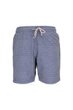 Faherty Brand - Blue Fishscale Printed Swim Trunks