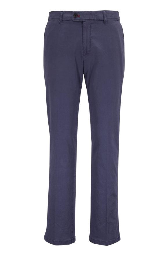 Brax Evans Navy Blue Stretch Cotton Pant