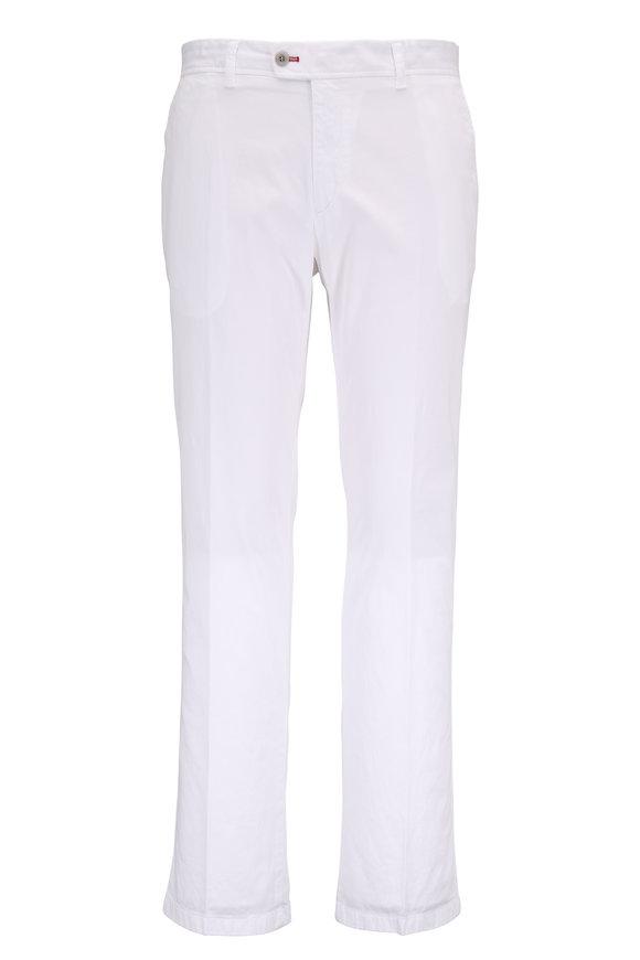 Brax Evans White Stretch Cotton Pant