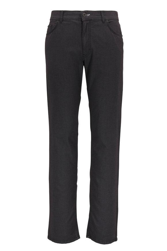 Brax Cooper Fancy Textured Gray Regular Fit Pant