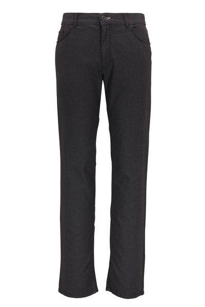 Brax - Cooper Fancy Textured Gray Regular Fit Pant