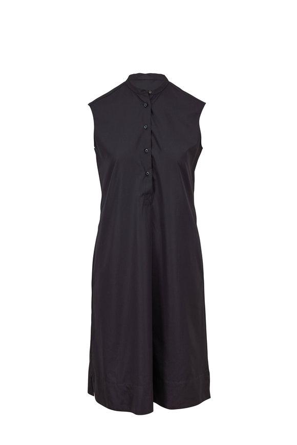 Aspesi Slate Gray Poplin Sleeveless Dress