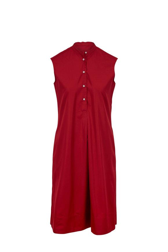 Aspesi Red Cotton Sleeveless Dress