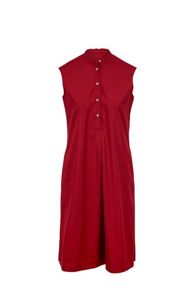 Aspesi - Red Cotton Sleeveless Dress