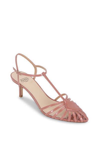 Francesco Russo - Phard Patent Blush Leather T-Strap Pump, 55mm