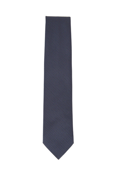 Brioni - Royal Blue Patterned Necktie