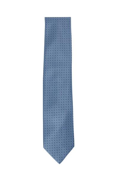 Brioni - Light Blue Geometric Silk Necktie