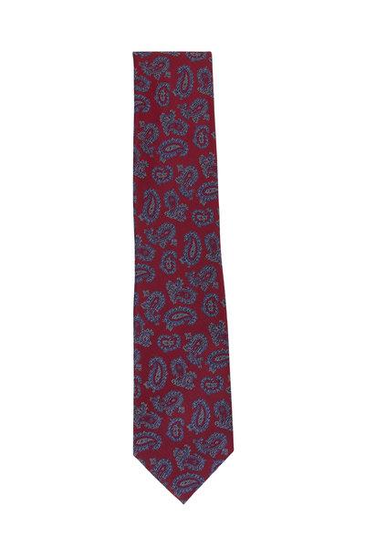 Brioni - Red Paisley Silk Necktie
