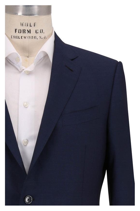 Ermenegildo Zegna Leggerissimo Navy Blue Wool & Silk Suit