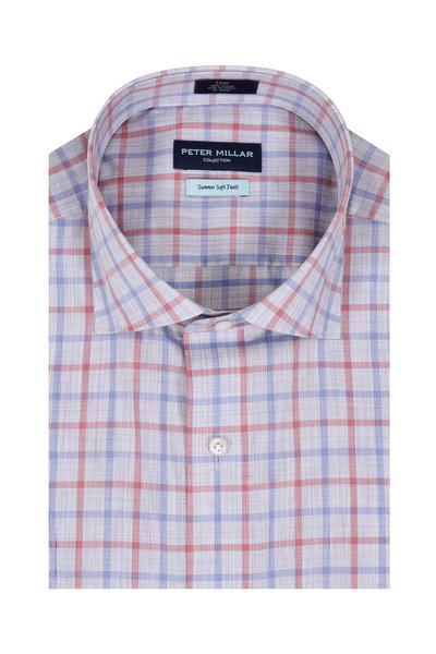 Peter Millar - Summer Soft Twill Multi Cradle Check Sport Shirt