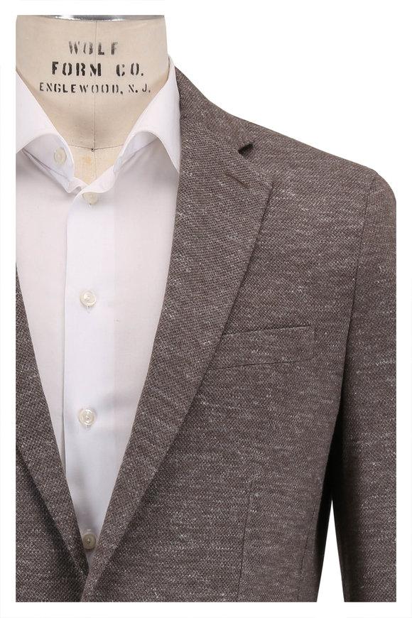 Peter Millar La Jolla Soft Brown Jersey Soft Jacket