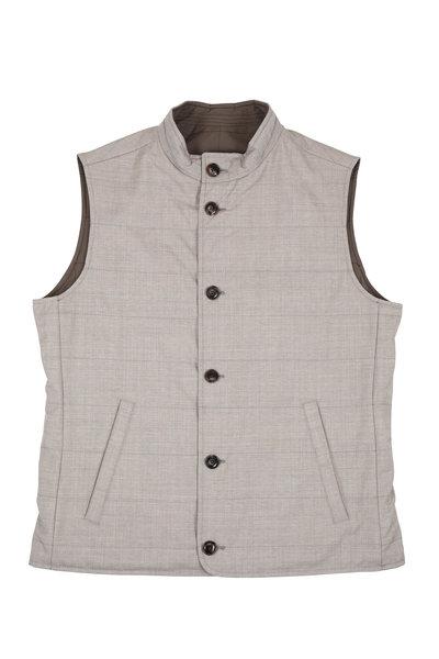 Peter Millar - Springtime Tan Nylon & Wool Reversible Vest