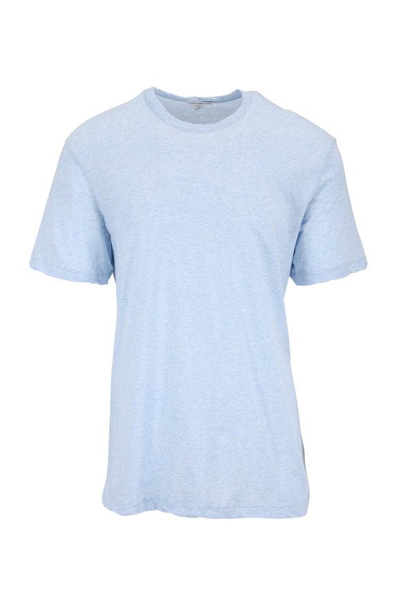 James Perse Heather Sky Blue Jersey T-Shirt