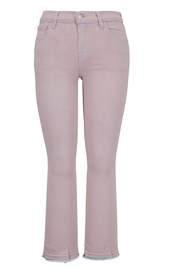 J Brand Selena Light Lilac Mid-Rise Crop Bootcut Jean
