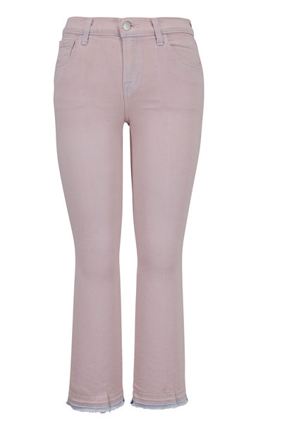 J Brand - Selena Light Lilac Mid-Rise Crop Bootcut Jean