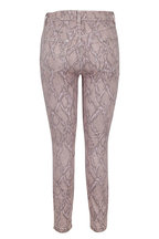 J Brand - Alana Pink Printed High-Rise Jean