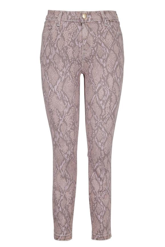 J Brand Alana Pink Printed High-Rise Jean